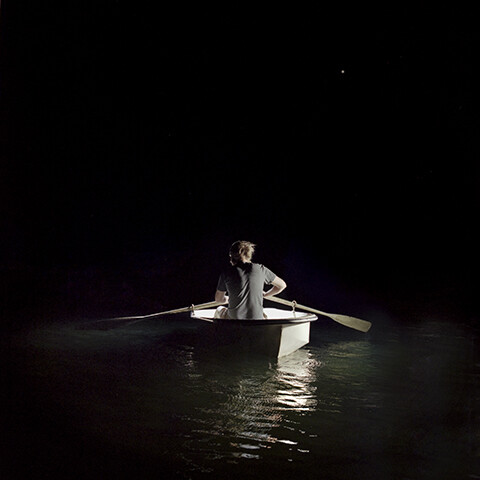 Michael Lewis in Boat
