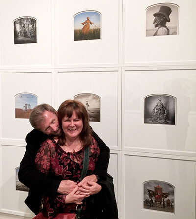 Gary and Barb at Robischon Gallery