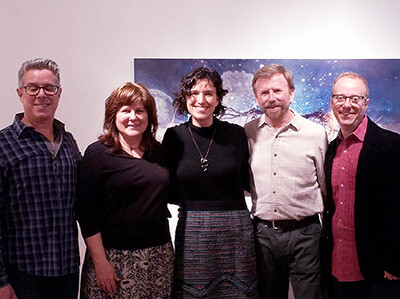 Mike McClung, Barb, Liz Hickok, Gary and Warren Campbell at the Groundwaters show