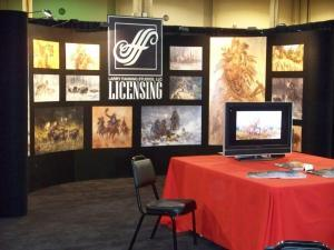 Artist Larry Fanning trade show booth