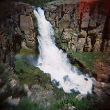 "Photograph ""Waterfall"" shot with a Holga camera"