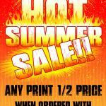 Hot Summer Sale - Half Price Print with Mounting Purchase