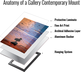 Diagram showing construction of Reed Gallery Contemporary Print